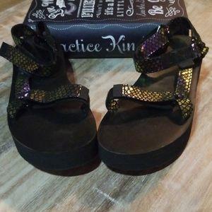 New Teva Platform Sandals - 10